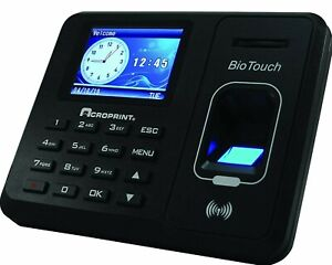 Acroprint Biotouch Self contained Automatic Biometric Fingerprint 01 0276 000