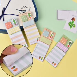 Cactus Kawaii Memo Pad Sticky Notes Cute Office Supplies Bookmark Paper Sti_dr