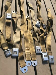 1968 72 Gto Chevelle 442 Gs Deluxe Seat Belts Gold Stainless