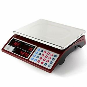 Digital Commercial Price Scale 66lb 30kg For Food Meat Fruit Produce With Dual