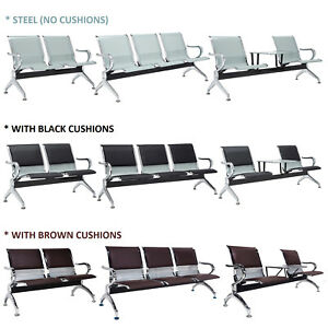 2 Seat 3 Seat Waiting Chair Reception Room Guest Chair Airport Bench Office Bank