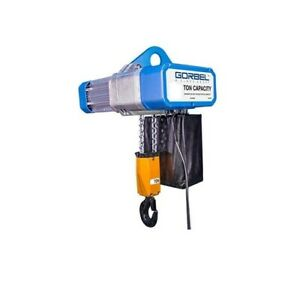 Gorbel Gs Electric Chain Hoist 1 2 Ton Capacity Dual Speed 12 Ft Lift Length