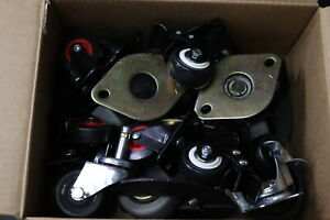 Lot Of Assorted Casters 14 Lbs