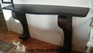 61087 Quality Carved Marble Top Console Hall Table Console Stand Sideboard
