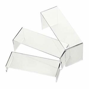 6 Pack Acrylic Display Risers Shoe Risers Retail Stand Cupcake And Clear