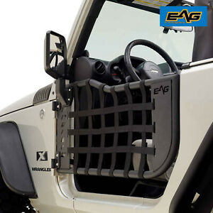 Eag Matrix Replacement Tube Door With Mirror Fit For 07 18 Jeep Wrangler Jk 2dr
