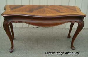 61159 Inlaid Banded Mahogany Sofa Hall Table Console Stand Sideboard Server