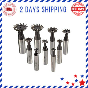 Degree Straight Shank Dovetail Cutter End Mill Slot Milling Cutter 8 Flutes