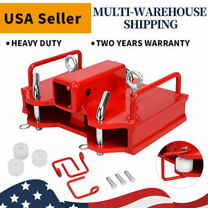 2 Forklift Towing Attachment Trailer Loader Hitch Receiver For Dual Pallet Fork