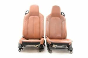 2008 Mazda Mx 5 Miata Nc Brown Leather Climate Controlled Seats Left And Right