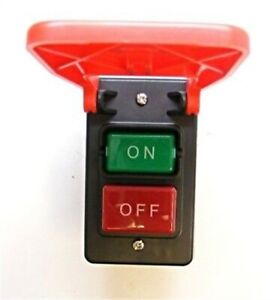 Superior Electric Sw56 Large Table Saw Push button Switch W emergency Stop Cover