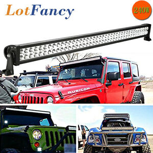 42 Inch 240w Spot Led Light Bar Offroad For Jeep Ford 4wd Suv Atv 40 200w