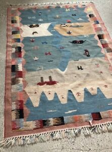 Beautiful Handmade Wool Rug From Persia 59 5 By 39 5 From Pet Smoke Free Home