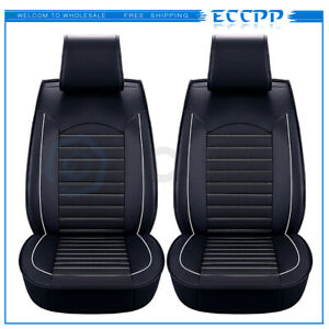 9pcs Car Seat Cover Protector Cushion Front Rear Full Set Pu Leather Interior