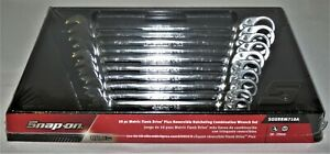 New Snap On 10pc Metric Wrench Set Flank Drive Plus Reversible Ratcheting 10 19