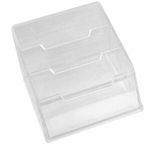 3 tier Design Clear Plastic Name Business Credit Card Stand Holder Case