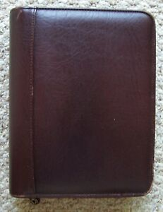 Franklin Covey Brown Top Grain Cowhide Leather Classic Planner 7 ring Binder