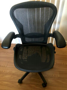 Herman Miller Aeron Office Chair size B Or C Black Good Condition