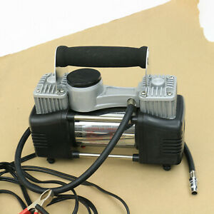 12 Volt Air Portable Air Compressor Twin Cylinders Like Viair Nice W Carry Case