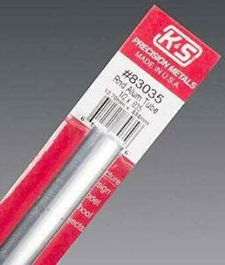 K S Precision Metals 83035 Round Aluminum Tube 1 2 Od X 0 035 Wall Thicknes