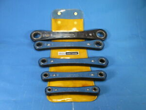 Vintage Craftsman 5pc Box End Ratchet Wrench Set W Pouch 94368 Sae Usa Nice