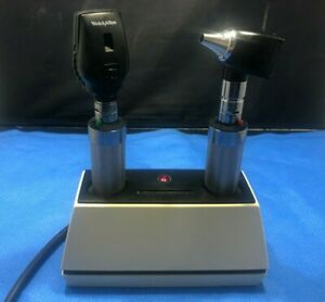 Otoscope Set Welch Allyn 71110 Charger 2 Handles 11710 25020 Heads T qz