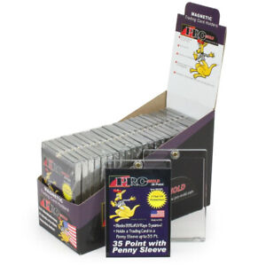 25 Promold Mh35s One Touch 35 Pt Sleeved Trading Card Magnetic Holders