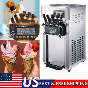 Commercial Frozen Soft Ice Cream Machine Lcd Display Commercial Yogurt Maker