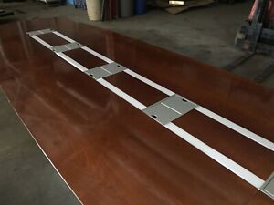 190 x56 Solid Wood Conference Table With 12 Data Ports And Led Lights