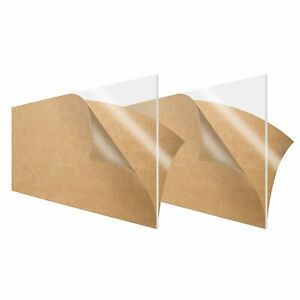 2 pack Simbalux Acrylic Sheet Clear 6 x12 1 8 Thick 3mm Plexiglass