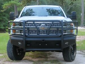 New Ranch Style Front Bumper 15 19 Chevy Silverado 2500 3500 Smooth Plate