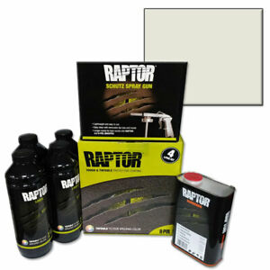 Upo 821 Tintable Raptor Bed Liner Kit With Wimbledon White Bed Liner Tint