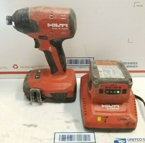 Hilti Sid 4 a22 Lithium ion 1 4 Hex Impact Driver W 2 Batteries charger