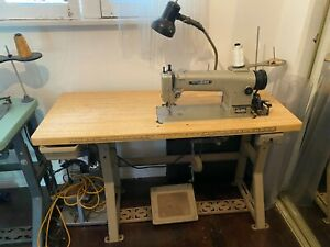 Mitsubishi Dy 340 Walking Foot Industrial Sewing Machine With Table
