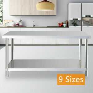 Us 9 Size Stainless Steel Work Prep Table Station Commercial Kitchen Restaurant
