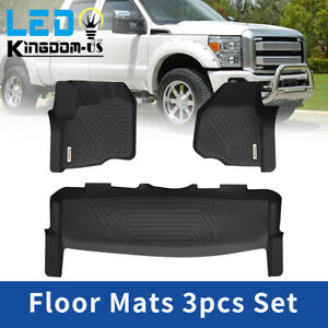 All Weather Floor Mats Liner For 2012 2016 Ford F 250 F 350 F 450 Supercrew Cab