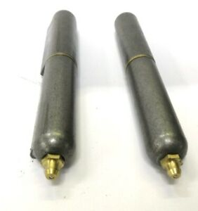 Weld On Hinge Barrel Lift Off W grease Fitting 6 L Brass Pin Lot Of 2