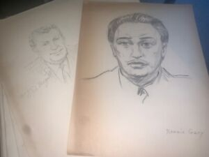 Vintage Sketch Book Pages 1960 s Known Named Face 45 Pages