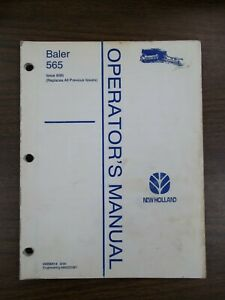 New Holland 565 Baler Owners Manual