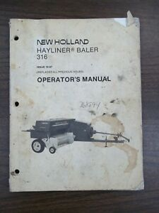New Holland Hayliner Baler 316 Owners Manual