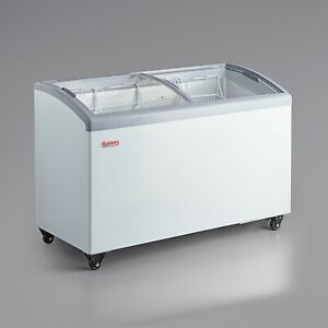 54 1 2 Ice Cream Glass Store Freezer 10 9 Cu Ft Showcase Display Commercial