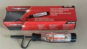 New Snap On Eect200 Cordless Circuit Tester 3 24v Dc Clear Handle New In Box