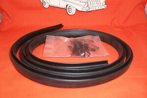 1955 1956 1957 1958 1959 Chevy Truck Hood To Cowl Seal Rubber With Clips New