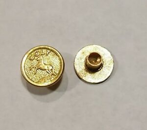 New Colt 1911 Gold Pistol Grip Medallions Compatible with all Colt Grips $13.99