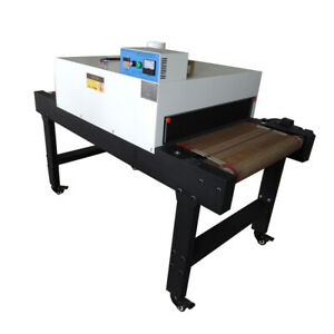 Small T shirt Conveyor Tunnel Dryer 5 9ft Long X 25 6 Belt For Screen Printing