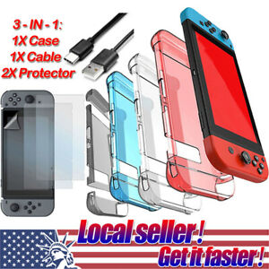US Accessories Shell Cover CaseCharging CableProtector For Nintendo Switch e9 $9.99