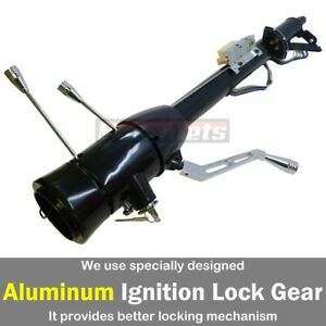 Black Stainless 30 Automatic Tilt Steering Column Shift W ignition Key Chevy Gm