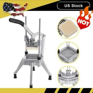 Stainless Steel 1 4 Blades French Fry Cutter Potato Vegetable Slicer Chopper