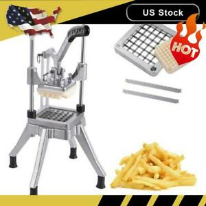 Stainless Steel 1 2 Blades French Fry Cutter Potato Vegetable Slicer Chopper