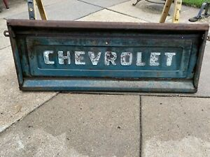 Vintage 55 59 60 66 67 72 Chevy Truck Stepside Tailgate